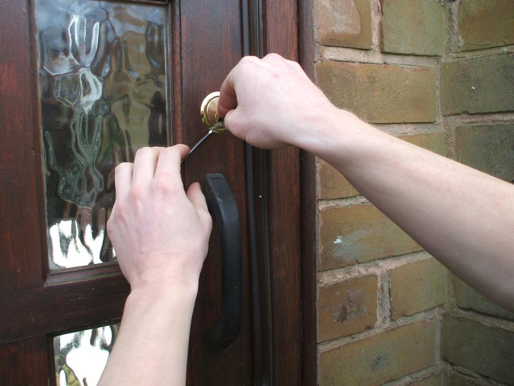 unlocking a  door lock